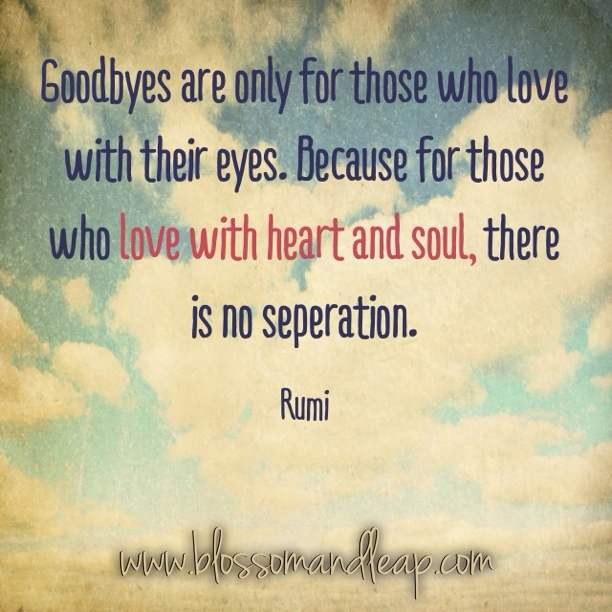 goodbye with the eyes rumi