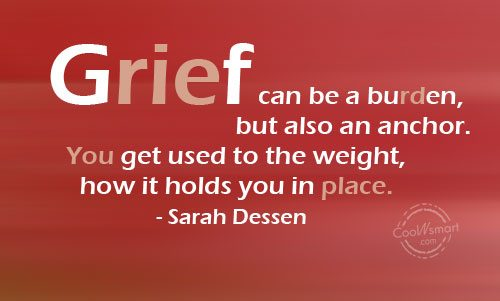 grief can be a burden
