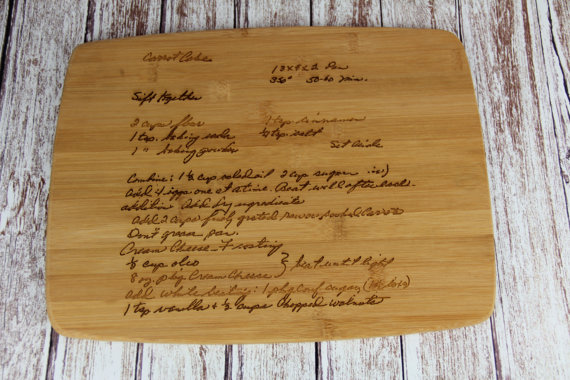 handwriting cutting board 2